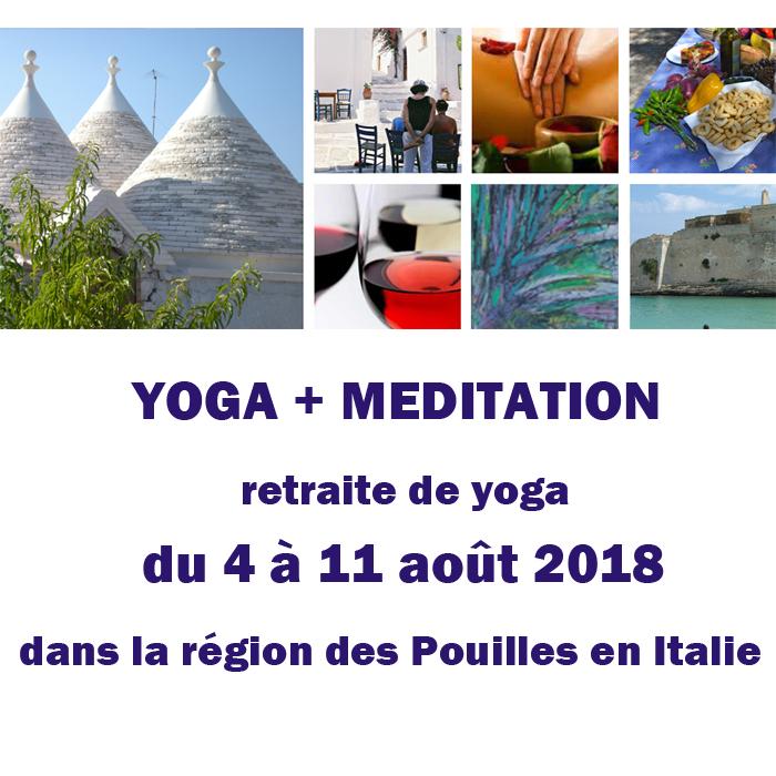 Retraite de Yoga dans la région des Pouilles en Italie
